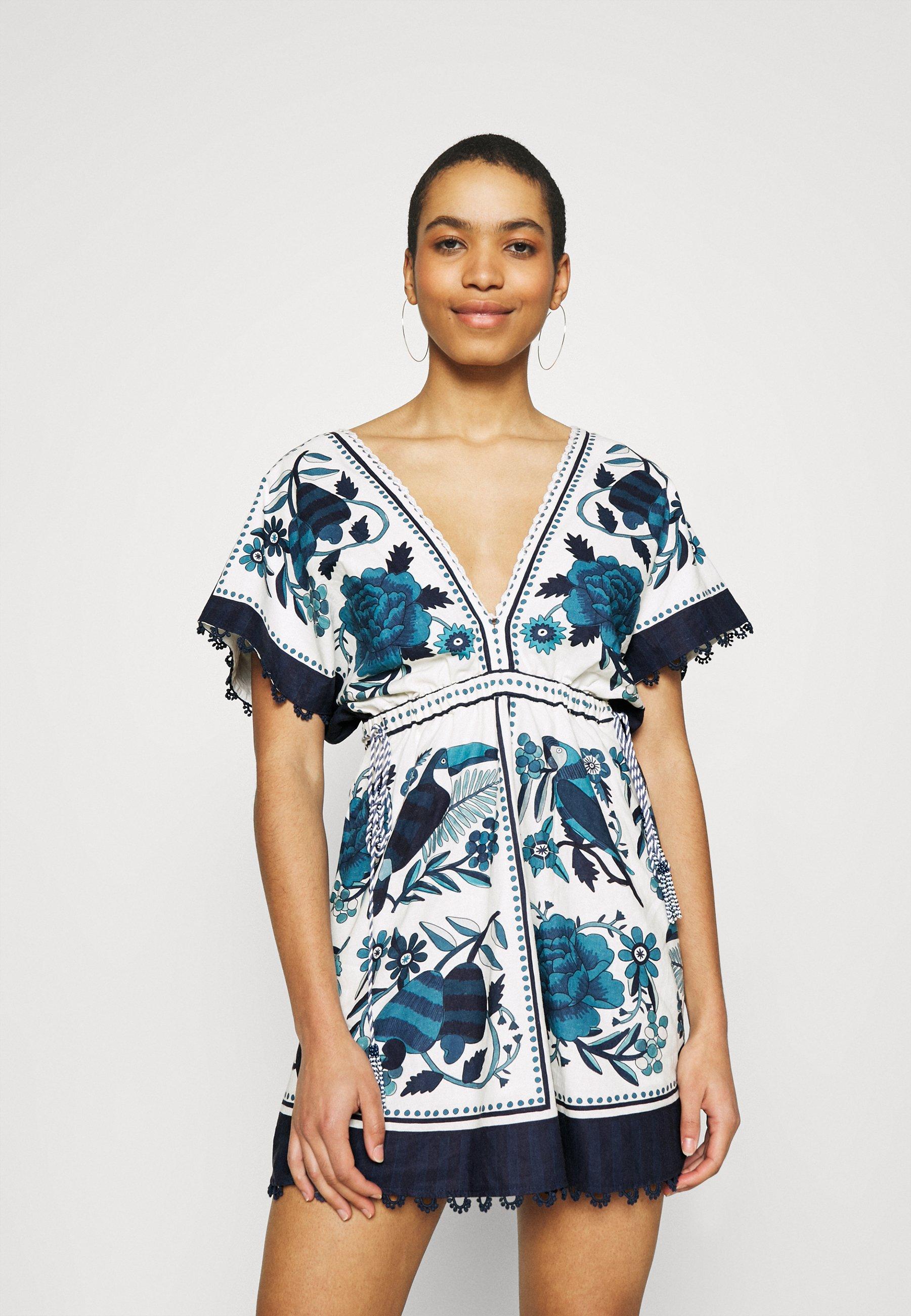 Women TROPICAL TILES MINI DRESS - Day dress