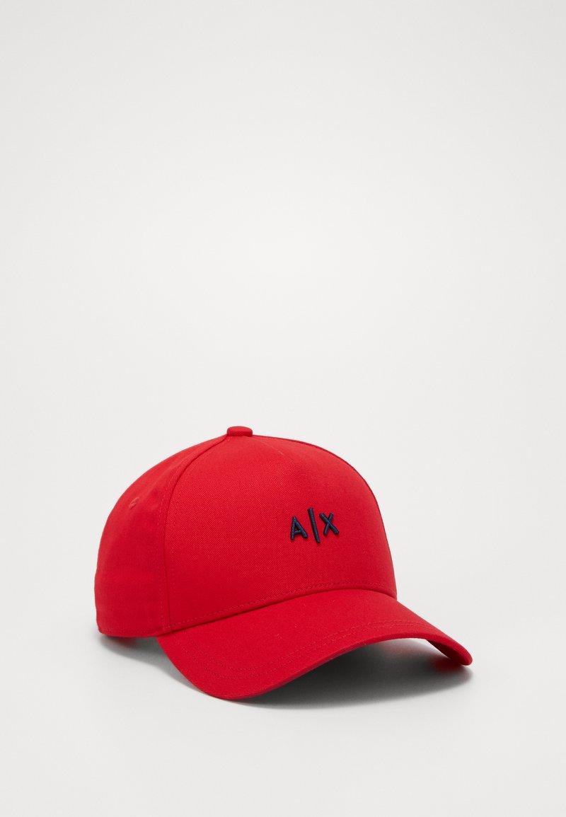 Armani Exchange - BASEBALL HAT - Kšiltovka - red/navy