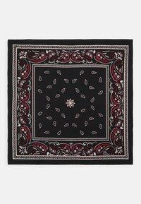 Zign - BANDANA UNISEX 2 PACK - Šátek - black/red - 2