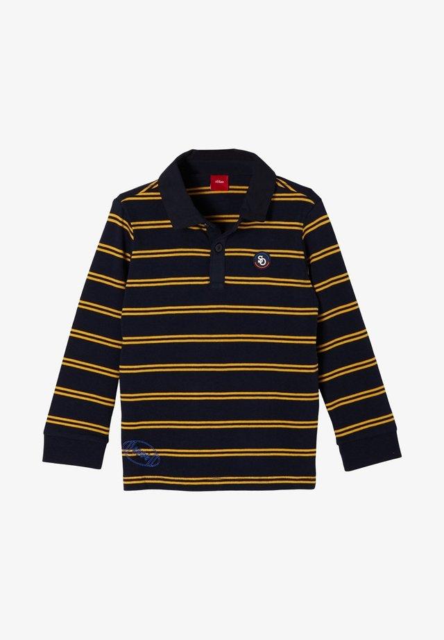 Poloshirt - dark blue stripes