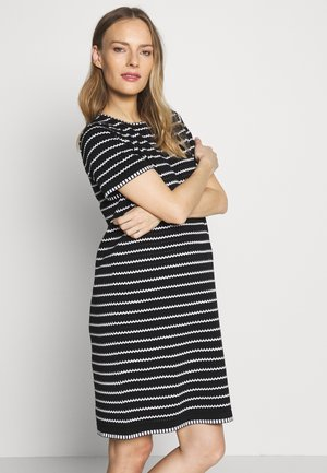 STRIPE DRESS - Sukienka dzianinowa - black