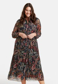 Samoon - MIT PAISLEY-PRINT - Day dress - black gemustert - 0