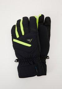 Ziener - GARY GLOVE SKI ALPINE - Gloves - blackpoison yellow - 0