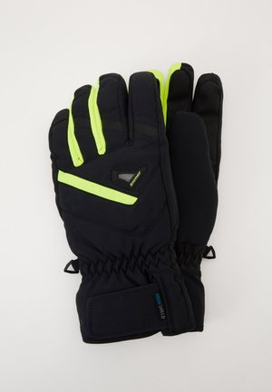 GARY GLOVE SKI ALPINE - Gloves - blackpoison yellow