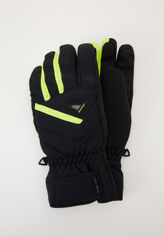 GARY GLOVE SKI ALPINE - Sormikkaat - blackpoison yellow