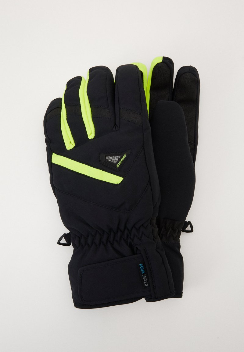 Ziener - GARY GLOVE SKI ALPINE - Gloves - blackpoison yellow