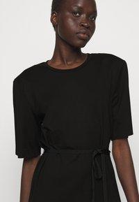 DESIGNERS REMIX - MODENA SLIT DRESS - Žerzejové šaty - black - 3