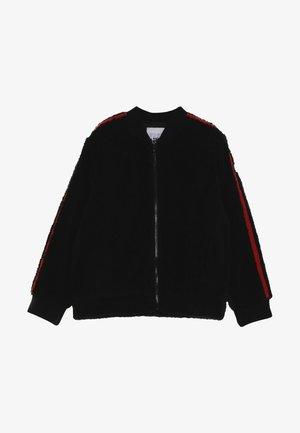 BOMBER JACKET - Chaqueta de entretiempo - black/red