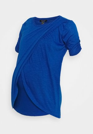 NURSING WRAP TOP - Print T-shirt - royal