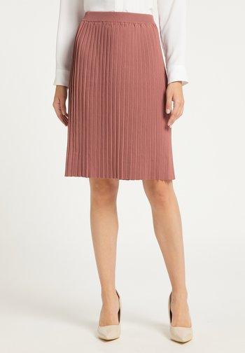 Pleated skirt - dunkelrosa