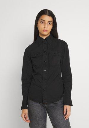 KICK BACK - Button-down blouse - black