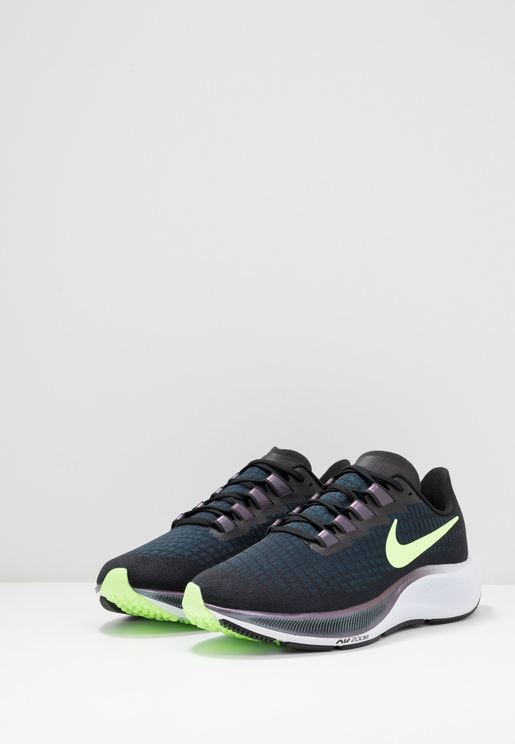 AIR ZOOM PEGASUS 37 - Zapatillas de running neutras - black/ghost  green/valerian blue/spruce aura