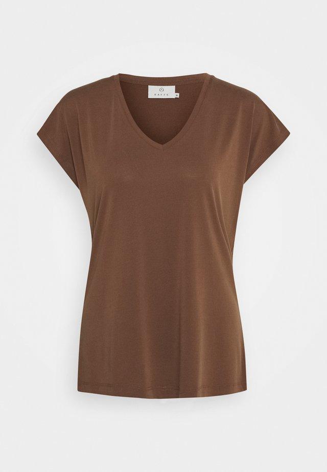 KALISE - Jednoduché triko - brown
