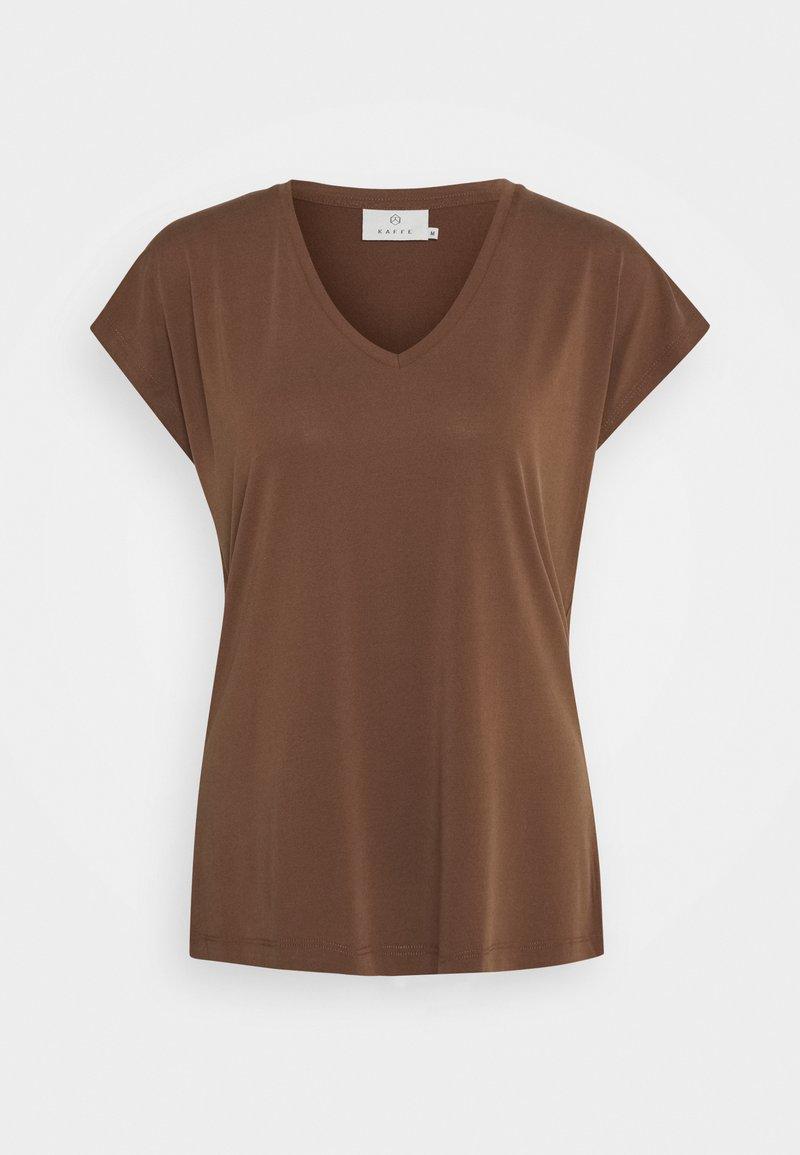 Kaffe - KALISE SS  - Basic T-shirt - brown