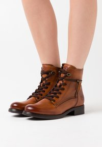 Bugatti - SINJA - Lace-up ankle boots - cognac - 0