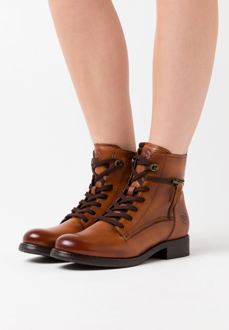 Bugatti - SINJA - Lace-up ankle boots - cognac