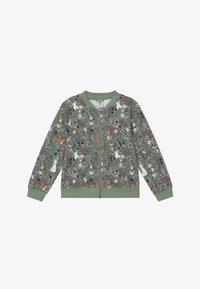 Lindex - MINI SWEET - veste en sweat zippée - light dusty green - 2