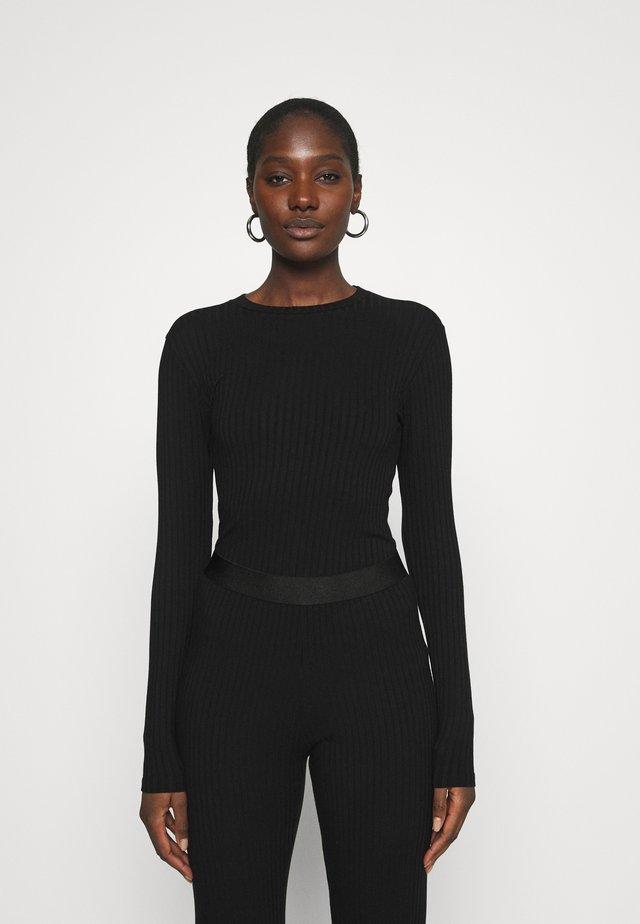 SOLID TUBA - T-shirt à manches longues - black