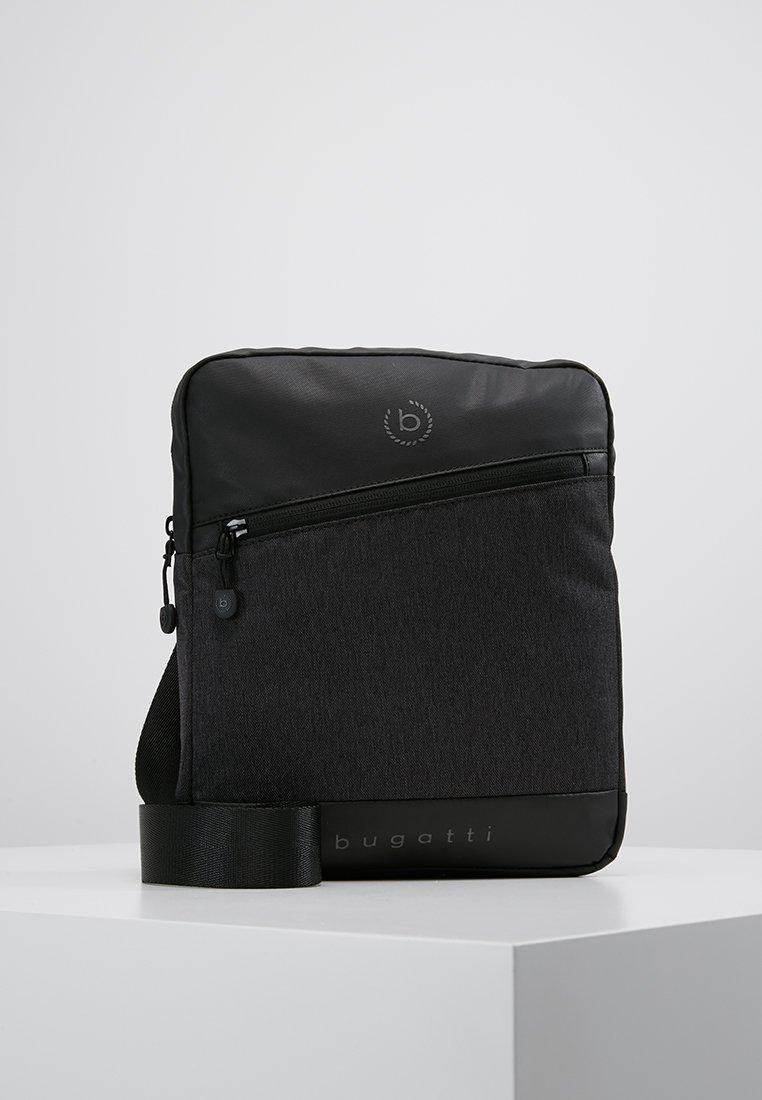 Bugatti - SMALL CROSSBODY BAG - Taška spříčným popruhem - black/grey