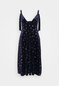 Missguided - TIE STRAP MIDI DRESS - Vestito estivo - navy - 0
