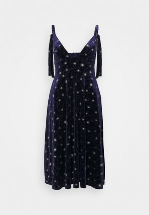 TIE STRAP MIDI DRESS - Day dress - navy