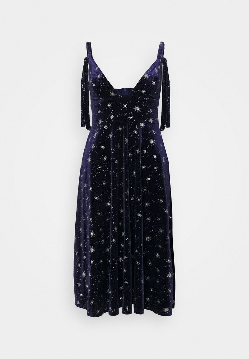 Missguided - TIE STRAP MIDI DRESS - Vestito estivo - navy