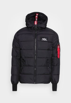 HOODED PUFFER ALPHA - Winter jacket - black