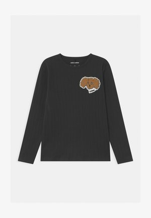 FLUFFY DOG PATCH UNISEX - Long sleeved top - black