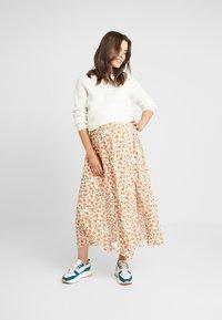 Topshop Maternity - AUSTIN - A-line skirt - cream - 1