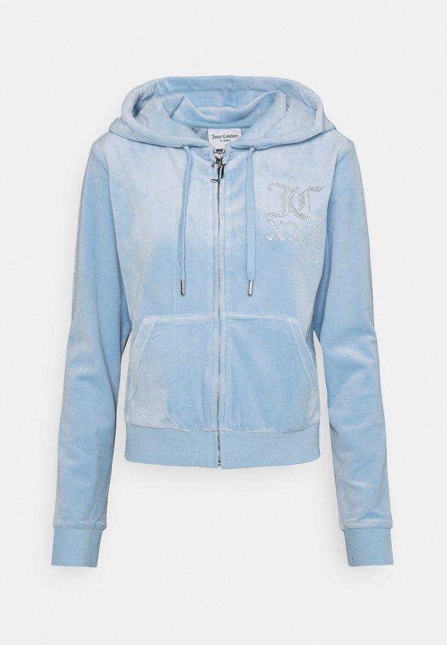 NUMERAL ROBERTSON HOODIE - Sweater met rits - powder blue