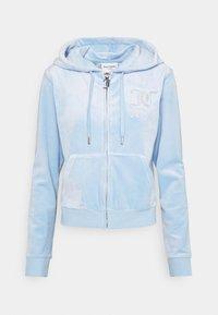 Juicy Couture - NUMERAL HOODIE - Zip-up sweatshirt - powder blue - 8