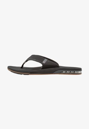 FANNING LOW - T-bar sandals - black