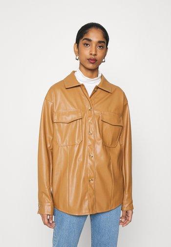 MILES BLOUSE - Skjorte - beige