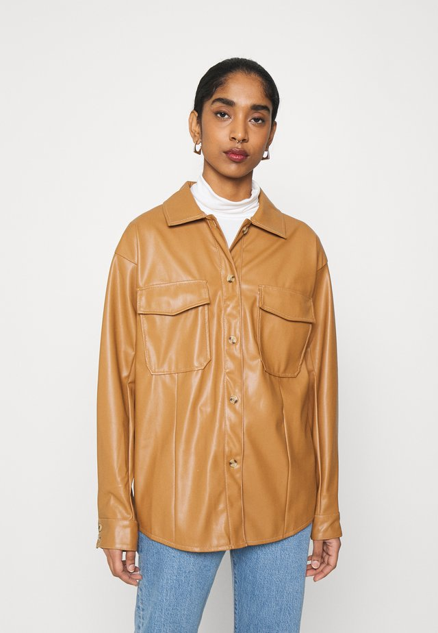 MILES BLOUSE - Camicia - beige