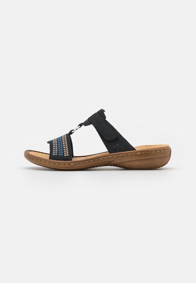 Rieker - Pantofle - blau