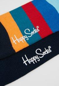 Happy Socks - FADED DIAMOND STRIPE 2 PACK - Socks - red/black - 2