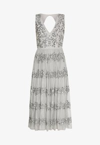 Maya Deluxe - PANELLED EMBELLISHED MIDI DRESS - Iltapuku - soft grey - 7