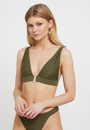 TELRIA SCOOP NECK BELTED - Top de bikini - khaki