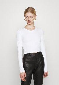 Monki - BARB 2 PACK - Långärmad tröja - black dark/white - 1