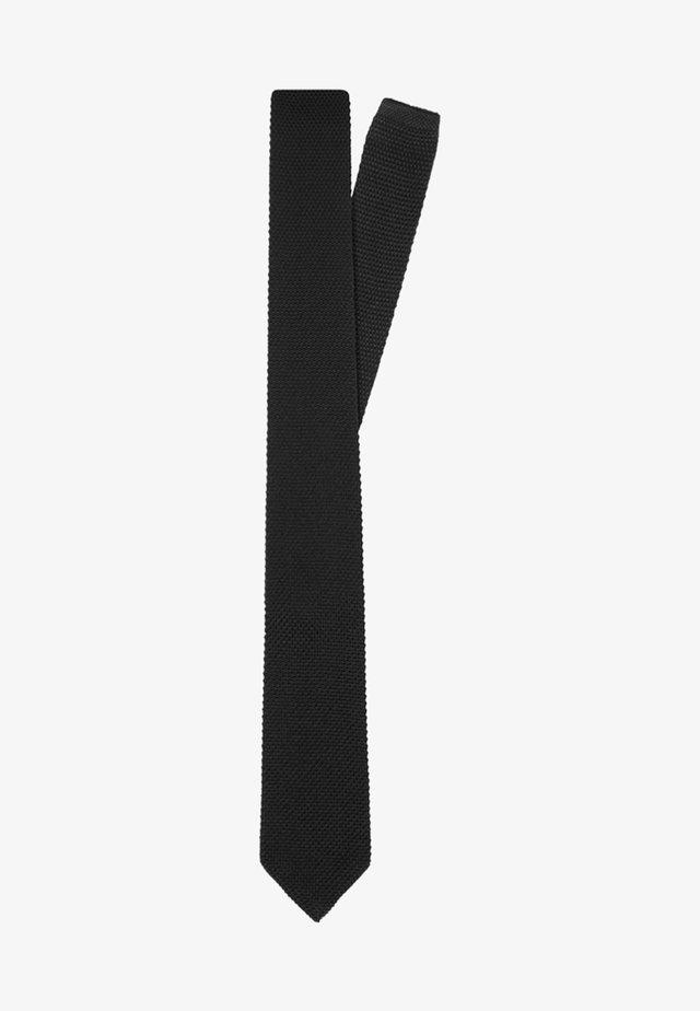SLIM KNITTED  - Tie - black