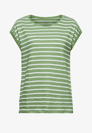 TEE STRIPE - Print T-shirt - leaf green