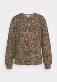 ONLSOFIA LEO - Sweatshirt - black/animal dark brown