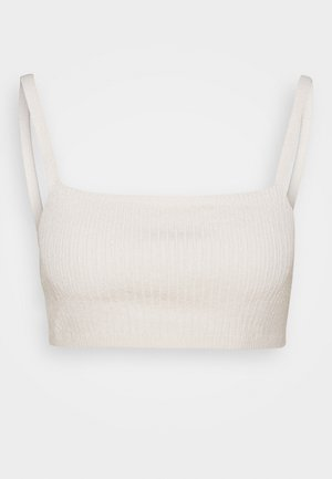 NA-KD X ZALANDO EXCLUSIVE - SOFT RIBBED CROPPED - Top - off-white
