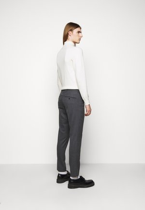 GRANT MICRO STRUCTURE PANTS - Chinos - dark grey