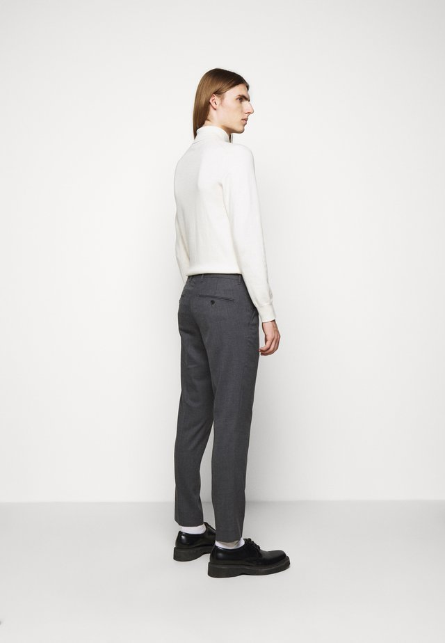 GRANT MICRO STRUCTURE PANTS - Chinos - dark grey