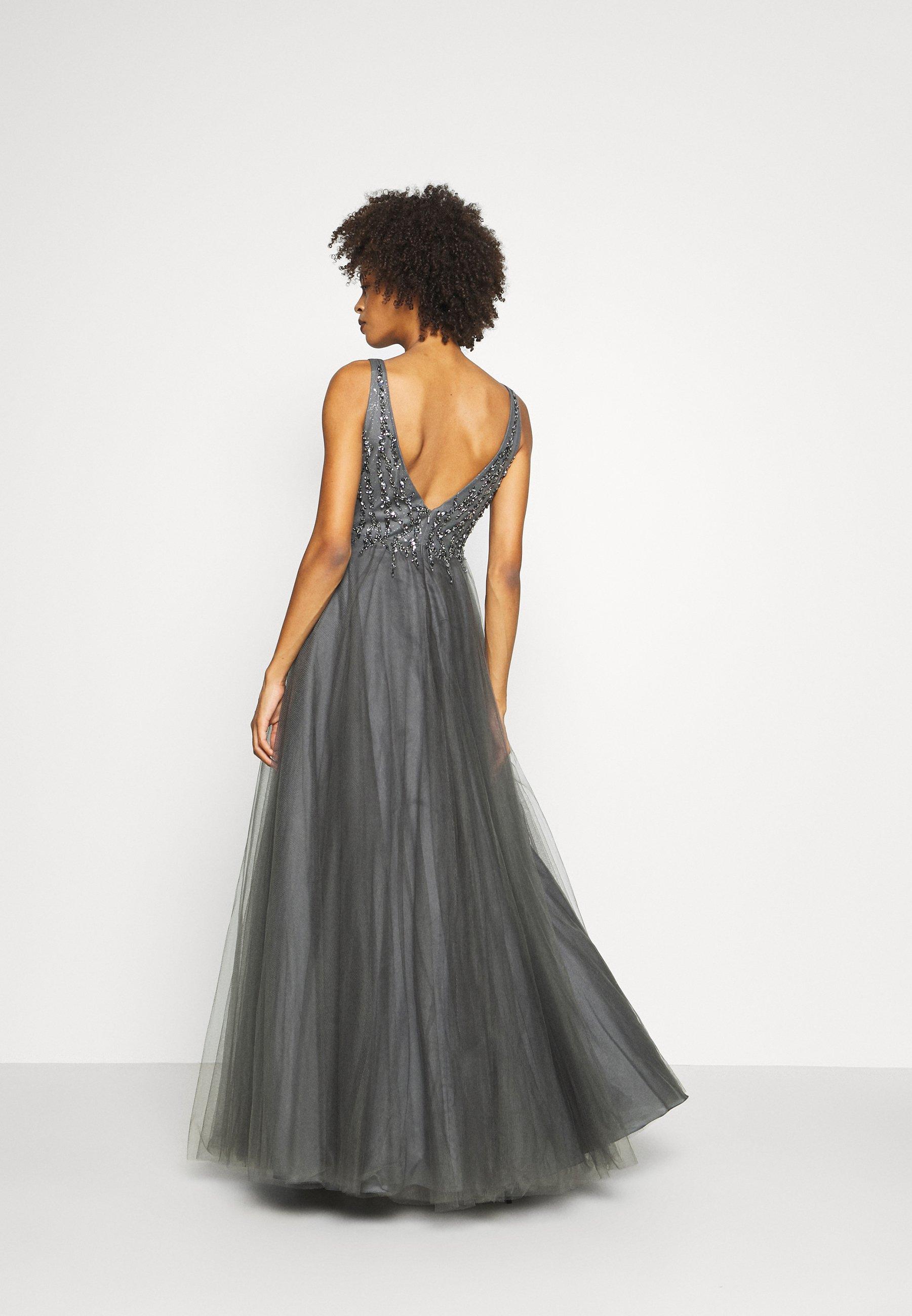 Luxuar Fashion Ballkleid grau dunkel/dunkelgrau