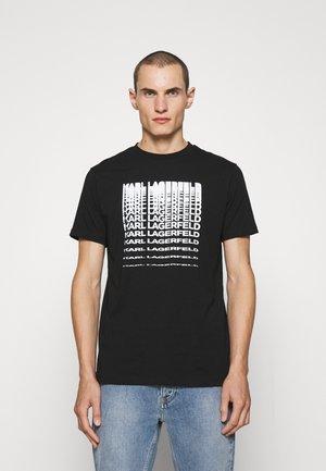CREWNECK - Printtipaita - black/white