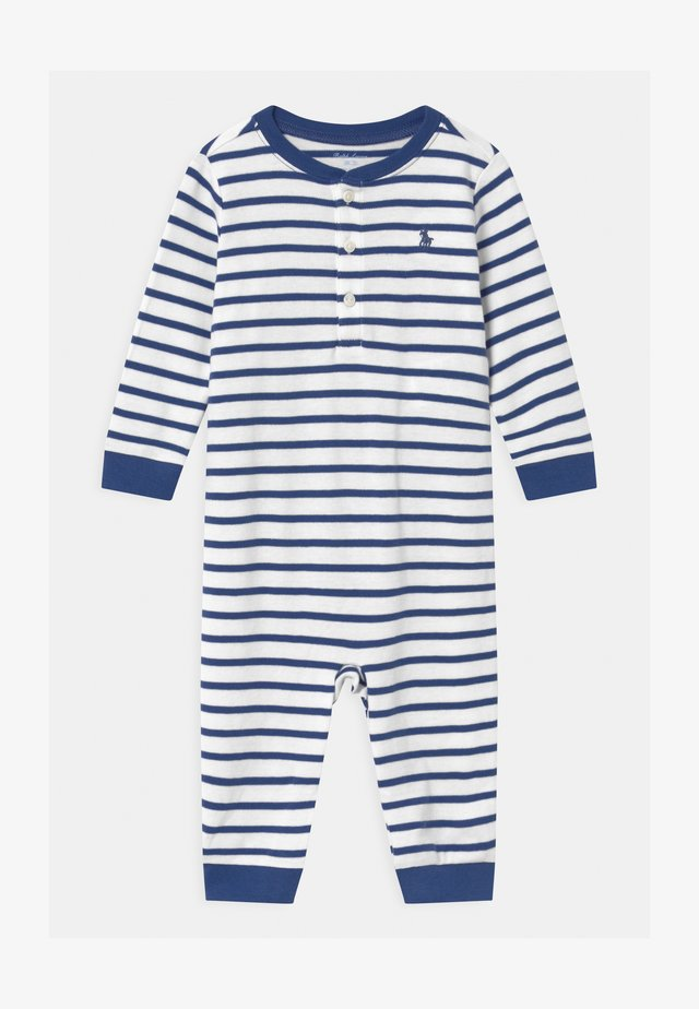 STRIPE ONE PIECE - Tuta jumpsuit - blue