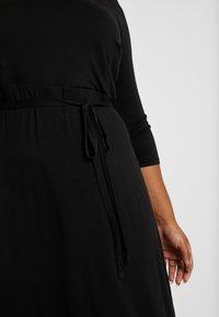 Dorothy Perkins Curve - 3/4 SLEEVE MIDI - Robe en jersey - black - 5