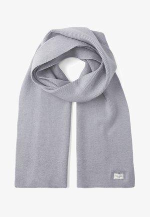 Scarf - knit grey melange